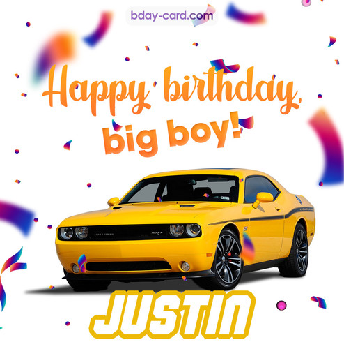 Happiest birthday for Justin with Dodge Charger
