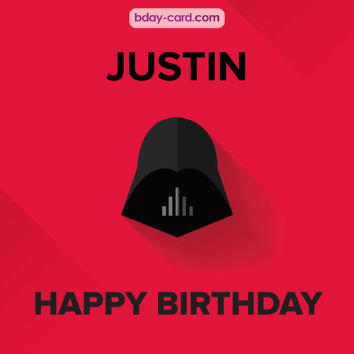 Happy Birthday pictures for Justin with Darth Vader