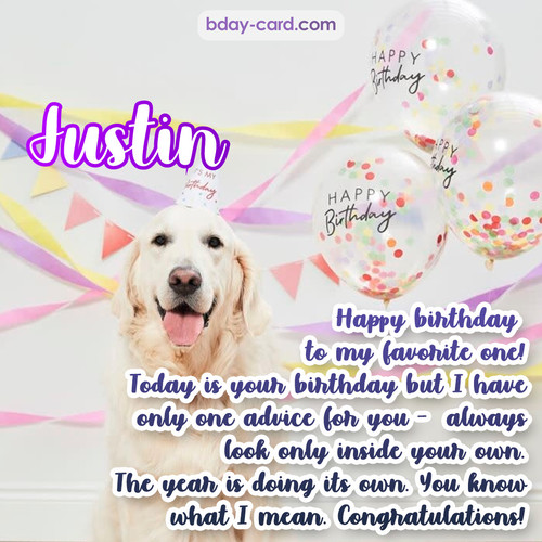 Happy Birthday pics for Justin with Dog