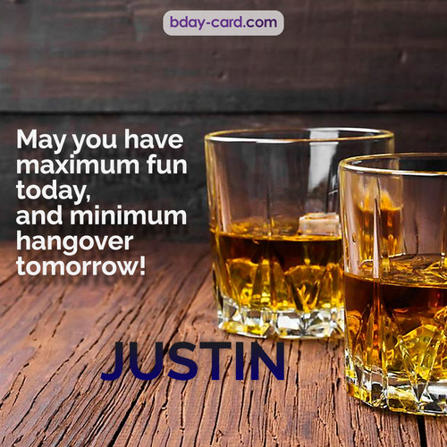 Greetings pics for Justin with Whiskey