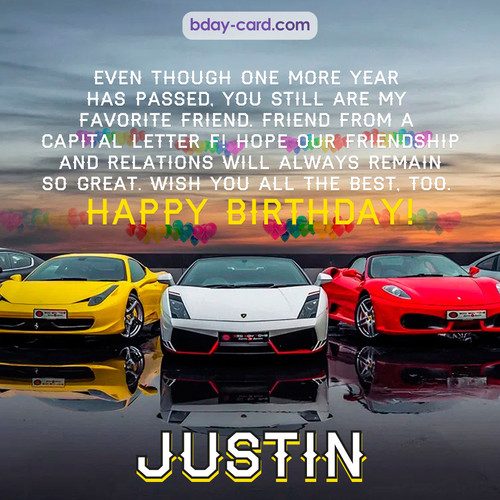 Birthday pics for Justin with Sports cars