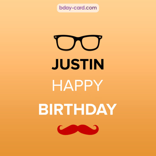 Happy Birthday photos for Justin with antennae