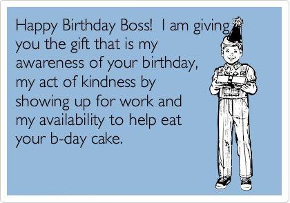 Birthday Boss Ecard