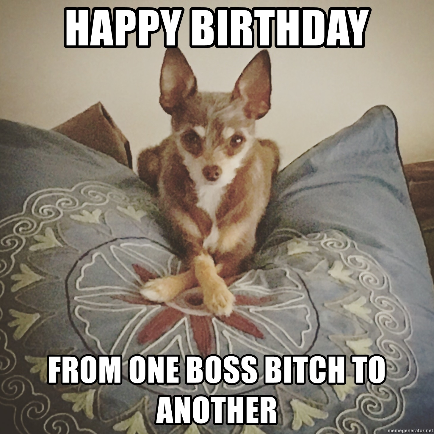 Happy Birthday From One Boss Bitch To Another Happy
