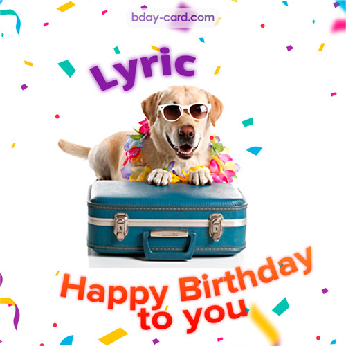 Funny Birthday pictures for Lyric