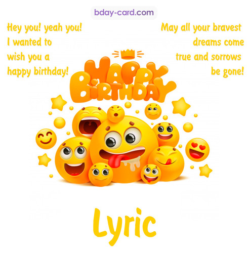 Happy Birthday images for Lyric with Emoticons