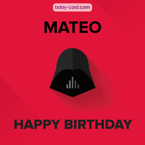 Happy Birthday pictures for Mateo with Darth Vader