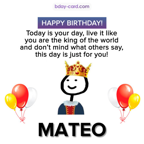 Happy Birthday Meme for Mateo