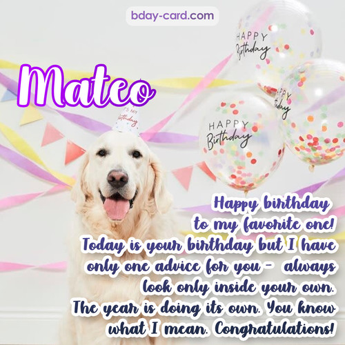 Happy Birthday pics for Mateo with Dog