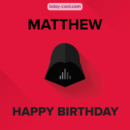 Happy Birthday pictures for Matthew with Darth Vader