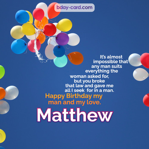 Birthday images for Matthew with Balls