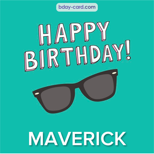 Happy Birthday pic for Maverick with glasses