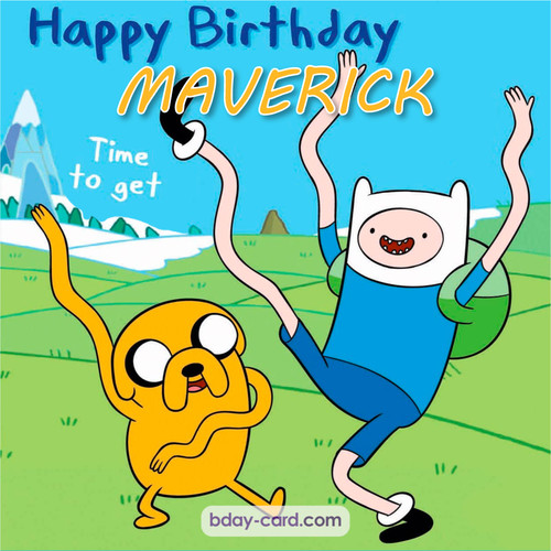 Birthday images for Maverick of Adventure time