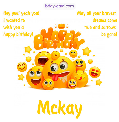 Happy Birthday images for Mckay with Emoticons