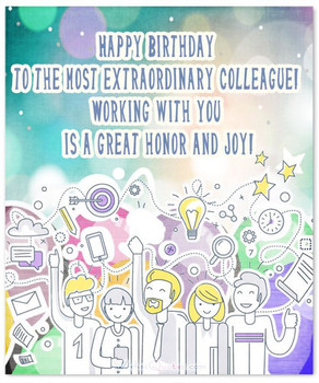 Happy birthday flag card for co worker look no further fo...
