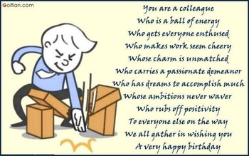 Simple colleague birthday wishes you are a colleague who ...