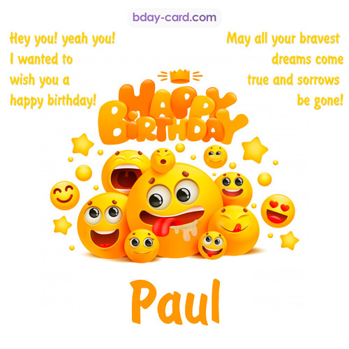 Happy Birthday images for Paul with Emoticons