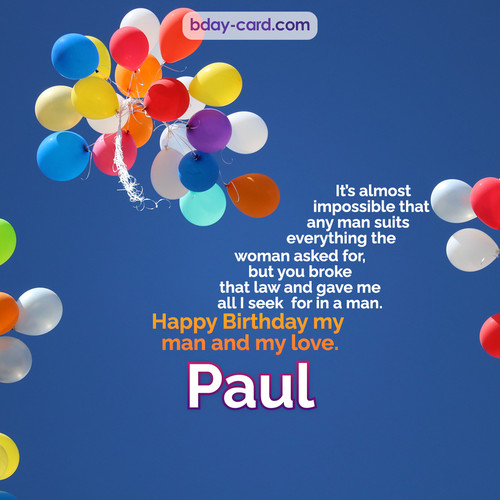 Birthday images for Paul with Balls
