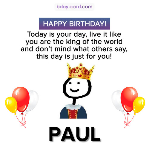 Happy Birthday Meme for Paul