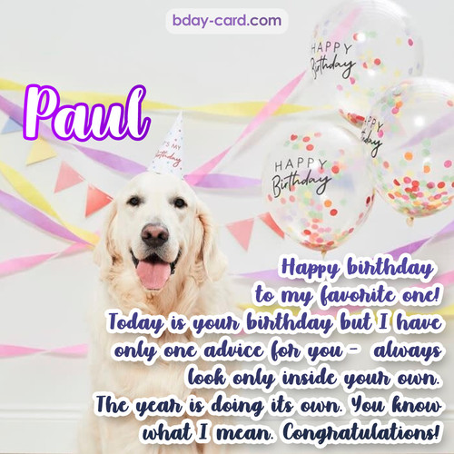 Happy Birthday pics for Paul with Dog