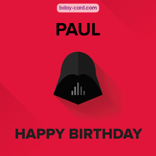 Happy Birthday pictures for Paul with Darth Vader