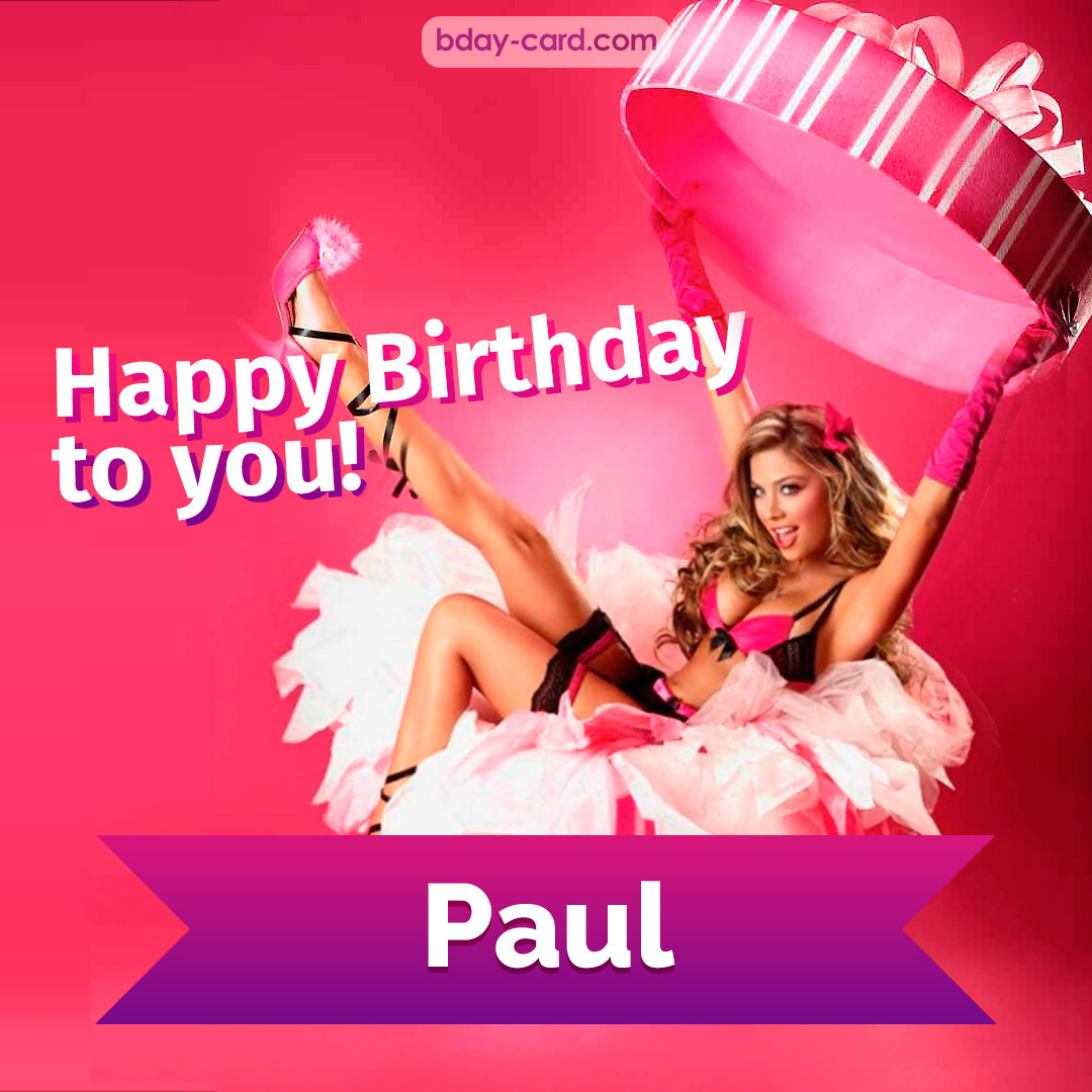 Birthday images for Paul with lady