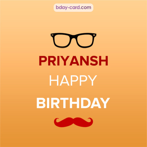 Happy Birthday photos for Priyansh with antennae