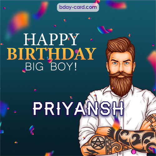 BDay big boy Priyansh - Happy Birthday