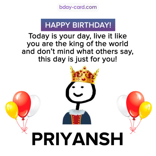 Happy Birthday Meme for Priyansh