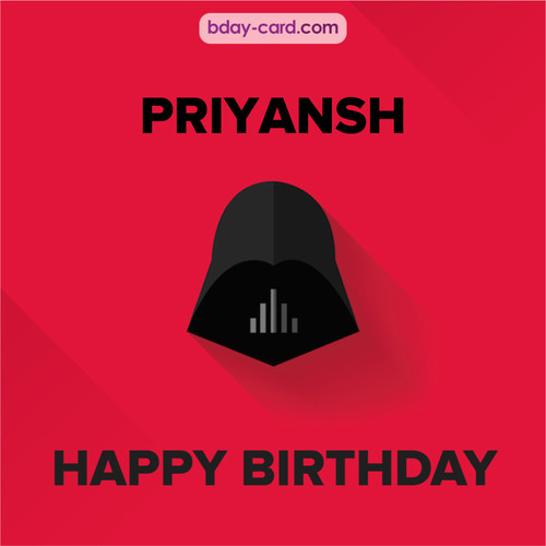 Happy Birthday pictures for Priyansh with Darth Vader