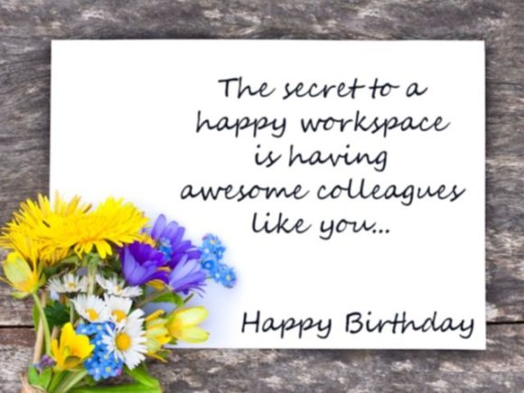 Birthday wishes for colleagues quotes amp messages happy ...