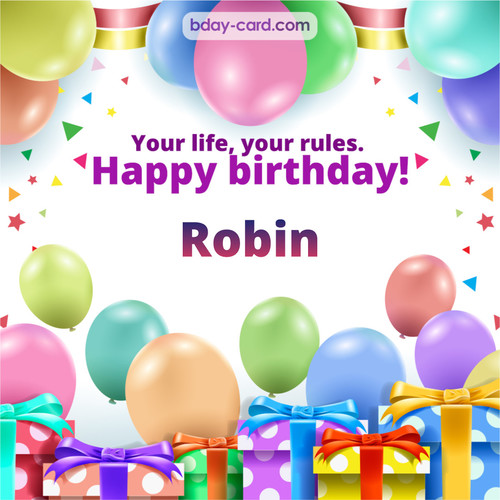Greetings pics for Robin with Balloons