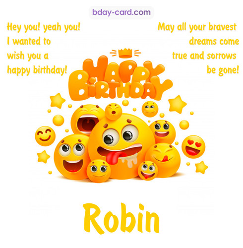 Happy Birthday images for Robin with Emoticons