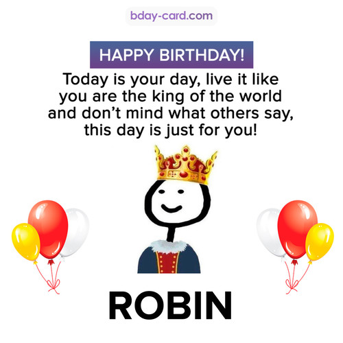 Happy Birthday Meme for Robin